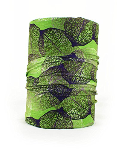 Ferocity Multifunktionstuch Schal Halstuch Schlauchtuch Headband 30 Varianten Blätter grün Leaves Green [036]