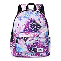 School Bags for Girls Boys, Galaxy Water Resistant Durable Casual Basic Backpack for Students