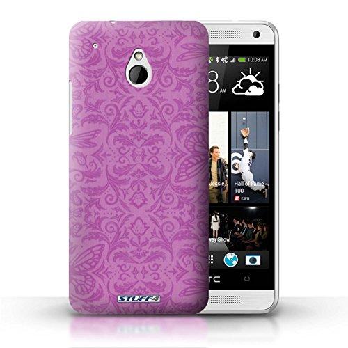 Kobalt® Imprimé Etui / Coque pour HTC One/1 Mini / Jaune conception / Série Motif médaillon Rose