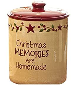 Park Designs Good Tidings Christmas Memories Are Homemade Country Star Holiday Cookie Jar by Park Designs