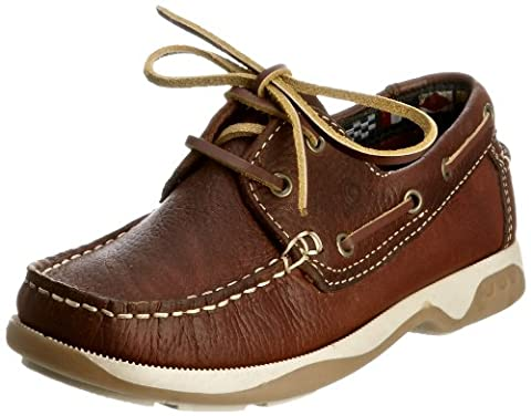 Chatham Skipper Unisex-Child Boat Shoes - Brown, 5 UK Child