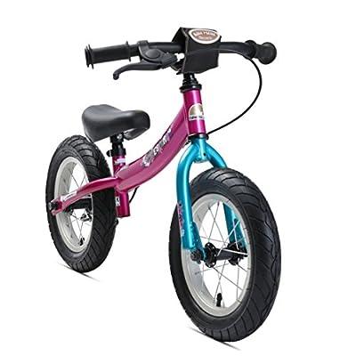 BIKESTAR Kinder Laufrad Lauflernrad Kinderrad für Jungen und Mädchen ab 3 - 4 Jahre mit Luftbereifung und Bremse ? 12 Zoll Sport Kinderlaufrad ?