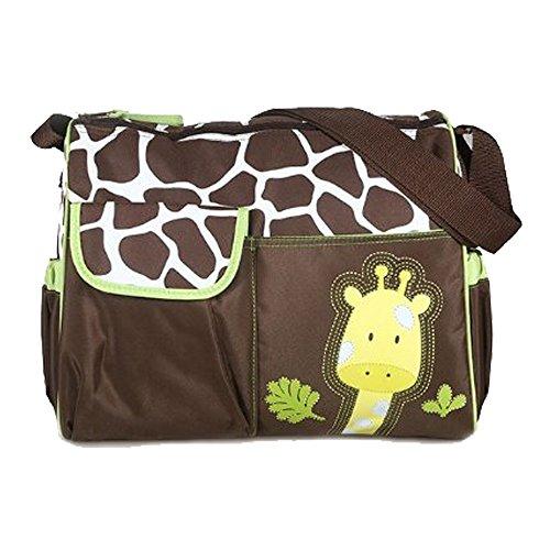 adoraland Multifunktional Mama Handtasche Baby Wickeltasche - Giraffe Muster