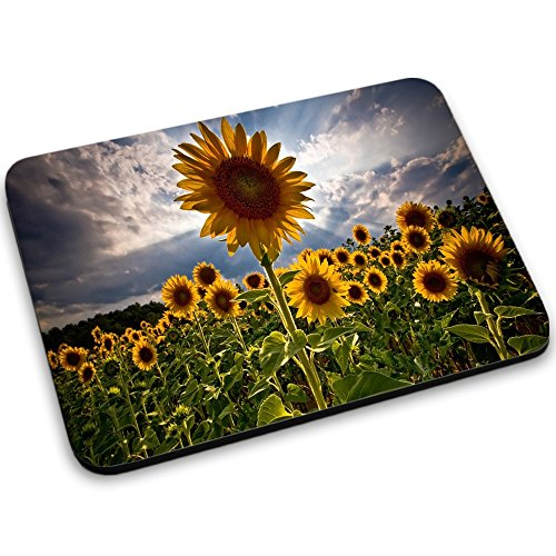 Fleurs 10003, Fleur Jaune, Tapis de Souris Mouse Pad Mat Antidérapant. Parfait pour les Jeux, Travail et Accueil.