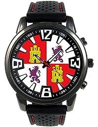 Castilla y León España Reloj para hombre con correa de silicona