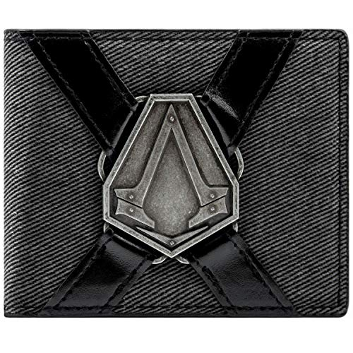 Ubisoft Assassins Creed Syndicate Silver Symbol Grau Portemonnaie Geldbörse -