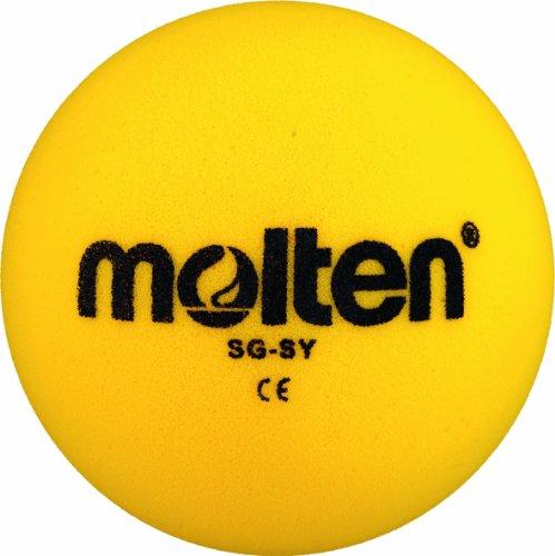 Molten Softball - Balón de fútbol blando, diámetro 180 mm, color amarillo
