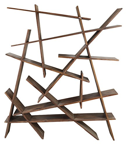 Jivan Handicrafts JF033 Puzzled Book Shelf (Brown)