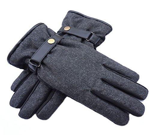 Isotoner Nylon-handschuhe (Longless Männer winter warm verdickt plus samt handschuhe nylon tuch ski windschutzhandschuhe)