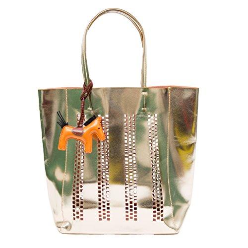 Zarapack da donna in ecopelle grande shopping Tote Vocation Beach borsa, Style 4 (Bianco) - BA93744 Style 2