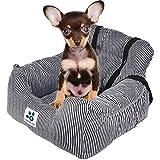 TOPONE Asiento Elevador para Perro para Coches, Asiento de Coche portátil para Perro con cinturón de Seguridad para Mascotas pequeñas y Medianas
