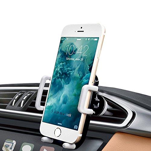 iAmotus Soporte Móvil Coche VentilaciónUniversal 360 Grados Soporte Teléfono Coche para Rejilla de Aire coniPhone X 8 7 6s 6 Plus 5s, Samsung Galaxy S9 S8 Edge, Huawei, Smartphone y GPS Dispositivo 10