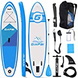 Fixget Unisex Adult, Stand Up Paddling SUP Board 10 Foot 33 inch 330 Pound Load Capacity Adjustable Inflatable 6 inch Thick Surfboard Set, Blue