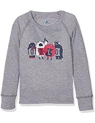 Odlo Warm Trend, Camiseta de Manga Larga Infantil, Gris (Grey Melange), 116 cm