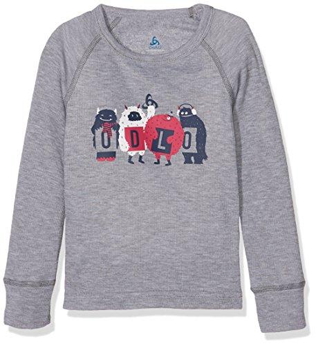 Odlo Kinder Shirt l/s Crew Neck WARM Trend Kids (SMA, Grey Melange, 80 | 07613273940954