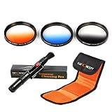 K&F Concept 67mm 5 teiliges Slim Objektiv Filter Set 3er