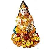 Kuber ji Murti Marble Look Idol, Special Dewali Poojan Kuber ji Statue Size 6 Inch