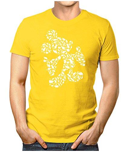 PRILANO Herren Fun T-Shirt - MOUSE-RATS - Small bis 5XL - NEU Gelb