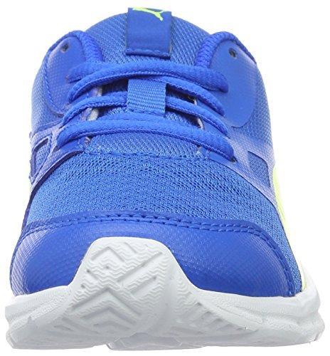 Puma Flexracer Ps, Baskets Basses Mixte Enfant Bleu - Blau (Electric Blue lemonade-safety Yellow 04)