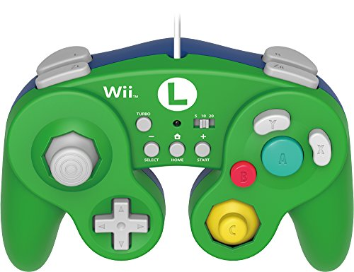 Hori - Mando De Combate Turbo Luigi (Nintendo Wii U, Nintendo Classic Mini)