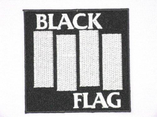 BLACK FLAG Logo Embroidered Iron On Patch HC Punk 8.89 cm/9 cm x 8.89 cm/9 cm, SSLINK (Eisen Auf Patches Black Metal)