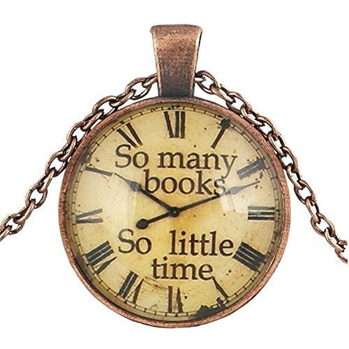 Suxnos Regalo del Día de la Madre Collar Reloj Gráficos Mapa Global World Jewelry Vintage Colgante Regalo para Mujeres Hombres