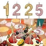 TianranRT Anzahl 1225 Geburtstag Ziffer Kerzen Anzahl Kuchen Dekor für Erwachsene/Kinder Party (C)