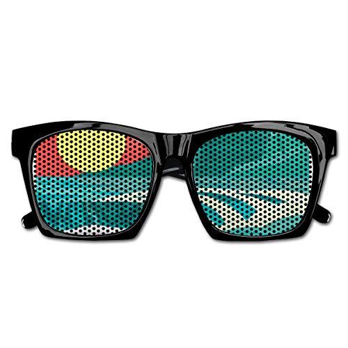 EELKKO Mesh Sunglasses Sports Polarized, Hawaii Sandy Coastline Sunny Day Surfboard Tropics Famous Honeymoon Destination,Fun Props Party Favors Gift Unisex