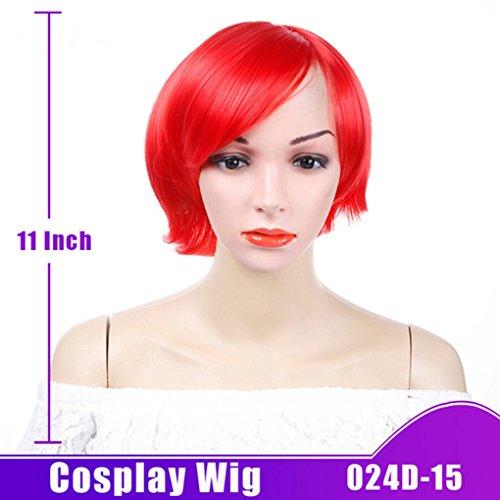 SHANGKE HIAR Kurze Gerade Perücke 10 Farben Natürliche Synthetische Haar Kostüm Party Cosplay Perücke Hitzebeständig Für Frauen