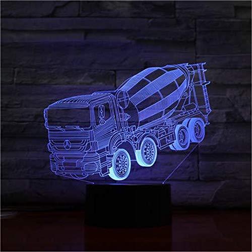 WJPDELP-YEDE Mixer Truck Stereo Lampe Schlafzimmer LED Atmosphäre Kreative Nachttisch Beleuchten USB Kinder Geschenk