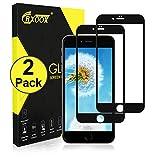 Protector de Pantalla para iPhone 6 Plus/iPhone 6s Plus,2 Unidades Cristal Templado Vidrio Templado [Alta Sensibilidad y Definición] [Anti-Arañazos] [Anti-Huellas Dactilares] [Sin Burbujas][Garantía de por Vida][Negro]