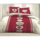Juego de toallas 160x 200cm + 2funda de almohadas CLUSE rojo juego de sábana 160x 200cm + 2funda de almohada juego de cama