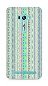 Amez designer printed 3d premium high quality back case cover for Asus Zenfone Selfie (aztec prints )