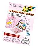folia 130526 - Passepartouts, mit rechteckiger Stanzung, ca. 10,5 x 15 cm, 5 Karten (220 g/qm) und Kuverts, rosa