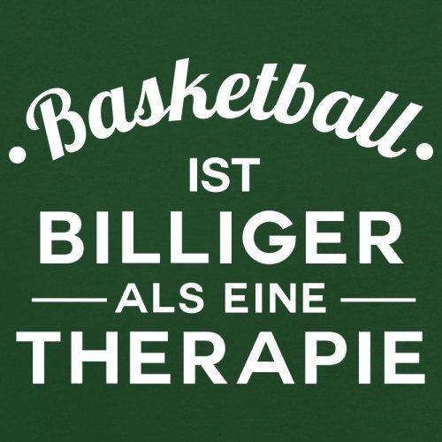 Basketball ist billiger als eine Therapie - Herren T-Shirt - 13 Farben Flaschengrün