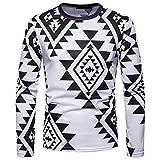 Herren Pullover,TWBB Afrikanische Geometrie Drucken Sweatshirt Oberteile Schlank Casual Lange Ärmel Männer O-Neck Hemd