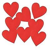 12 Textil Patch Aufbügler Aufbügelflicken Applikation Herz rot zum Selber Flicken Stylen Dekorieren ca. 5 x 5 cm