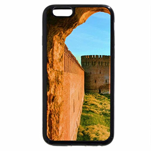 iPhone 6S / iPhone 6 Case (Black) fortress wall through a portal