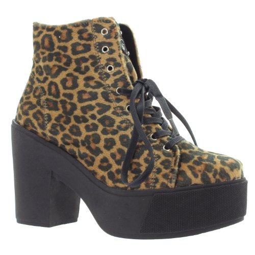 SIXTY SEVEN, Scarpe con plateau donna Marrone (Leopard)