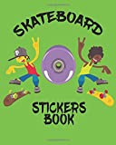 Skateboard Stickers Book: Blank Permanent Sticker Book