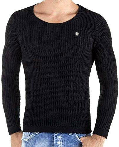 Redbridge by cipo baxx & 9865 philalux3 loupe pull en tricot gris Schwarz
