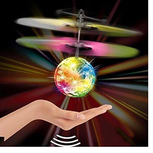Komisch Flugspielzeug,Amcool RC Ball Mini Flugzeug Blinkt Licht Fern Spielzeug für Kinder Über 12 Jahre