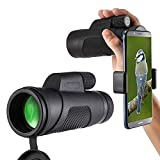 10X42 Télescope Monoculaire, Prismes BAK4, Oculaires Réglables, FMC Revêtement,...