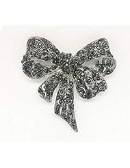 KUNQ Regalo Pareja/Regalo Navidad/Mariposa Nudo Broche Broche De Perlas Retro Pin Personalidad Broche Joyas Femeninas C
