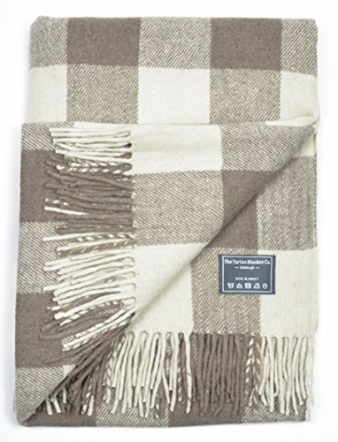 51xE1bBPEPL - The Tartan Blanket Co. Recycled Wool Blanket Jacob Tartan (150cm x 190cm)