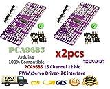 2pcs PCA9685 16 Channel 12 bit PWM Servo Driver I2C Interface |2 stücke PCA9685 16 Kanal 12 bit PWM Servo Driver I2C Schnittstelle