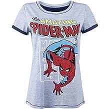 Spider-Man Comic Style Camiseta Mujer Gris/Melé