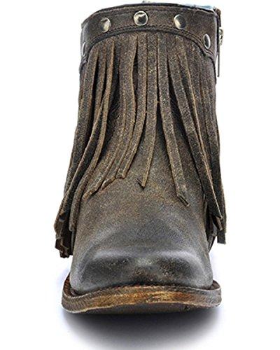 Corral Boots Stiefel A3136 Grau Damen Stiefelette mit Fransen Grey