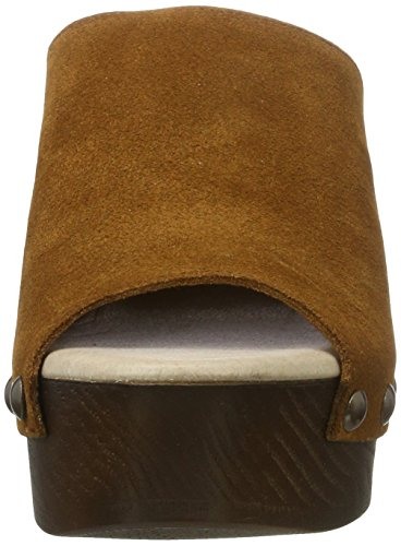 XTI - Camel Suede Ladies Shoes ., Zoccoli Donna Beige (Cammello )