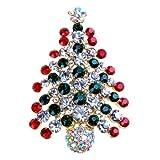 Viskey-Decorazioni natalizie Christmas Tree Brooch 0